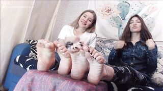 Nina Yo & miss Alisa Foot Fetish JOI. Jerk off looking at our Perfect Feet & Soles [RUS+ENG] TRAILER
